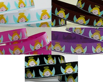 5 Yards ANGEL 3/8 Grosgrain Ribbon - your color choice