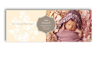Facebook Timeline Cover - Birth Announcement - 1007