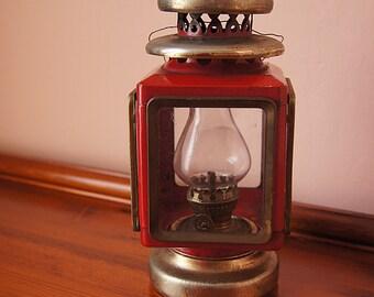 Aluminum vintage kerosene oil lamp made in 60s.