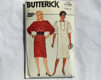 Butterick Fast & Easy Sewing Pattern 6676 Vintage 1980's Size 12