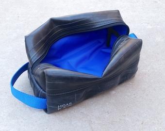 Mens Toiletry Bag - Recycled Bike Tube Dopp Kit - Travel Bag For Him