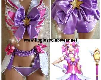 Guardian Lux Inspired Costume Rave Wear- Theme Wear- Dance - Costume - Halloween - Custom - Theatre Costume - EDM Wear - EDC - Rave Outfit