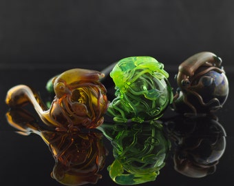 Squid Glass Pipe / Sherlock Pipe / Squid Sherlock / Thick Wall Pipe / Glass Smoking Bowl / Pyrex Pipe / You Choose the Color / Made to Order