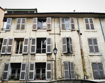 Provence Photography, Provence Wall Art, French Windows, Avignon Photography, French Decor, BonneRoutePhotos,