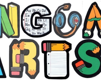 language arts etsy rh etsy com Writing Clip Art language arts clipart images