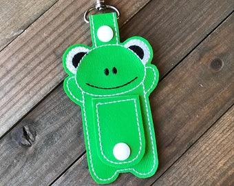 Frog Cord Organizer, Frog Ear Bud Holder, Earbud Holder, Frog Ear Bud Wrap, Earphone Holder, Frog Cord Wrap Keychain