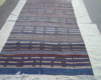 free shipping VINTAGE TURKİSH  kilim Anatolian - Rug Carpet.- handwoven kilim rug - decorative kilim - SİZE:58'' X 98'' (145 cm X 245 cm)