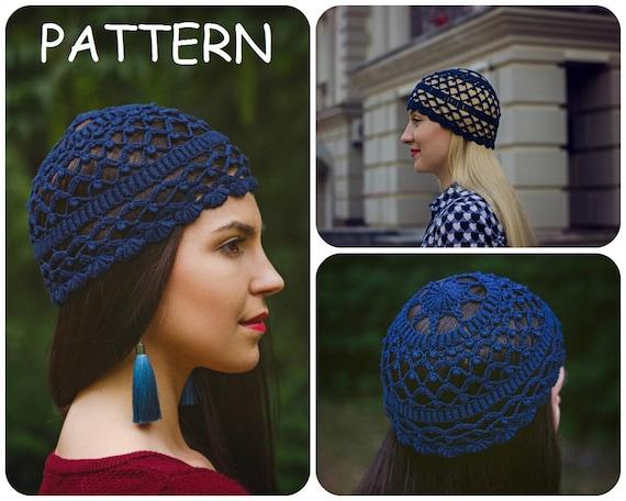 Crochet Graph Pattern Bullion Stitches Hat Pdf Summer