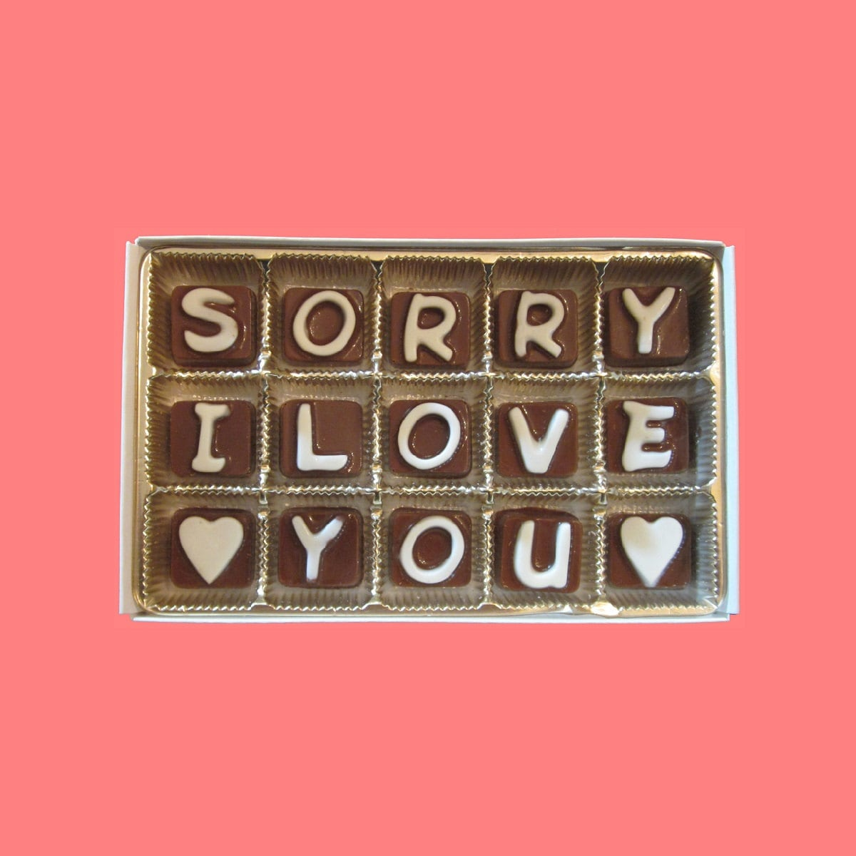 I am sorry gift her him apology gift boyfriend girlfriend i am sorry gift her him apology gift boyfriend girlfriend message please forgive me apologize say sorry i love you cubic chocolate letters thecheapjerseys Images