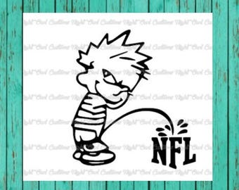 Calvin peeing on NFL anti protestor decal