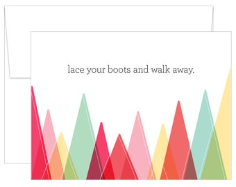 Lace Your Boots // Greeting Card - Inspirational and Motivational Greeting Card - Inspirational Print