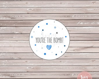 You're the Bomb Printable Tags - Party Favor Thank You Tags