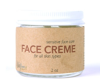 Face Creme - 100% Natural Face Lotion 2oz - Daily Face Moisturizer
