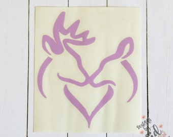 KISSING DEERS Decal