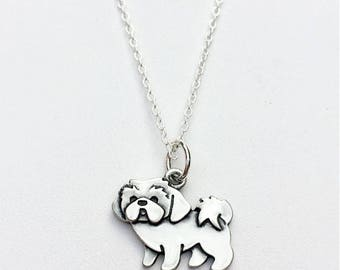 Lhasa Apso Charm Necklace