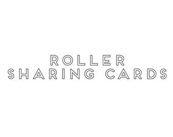 Roller Sharing Cards 4x6 Info Cards True Grace Tribe Team Only - Set of 20