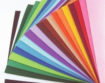 Felt Fabric - 20 Colors Collection - 20cm x 20cm per sheet