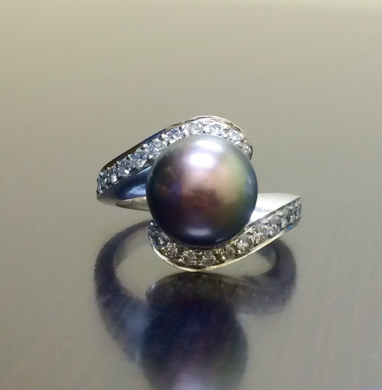 wedding antique rings pearl engagement diamond attractive ring pearls engagament