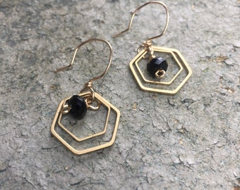 Black Swarovski Crystal Geometric