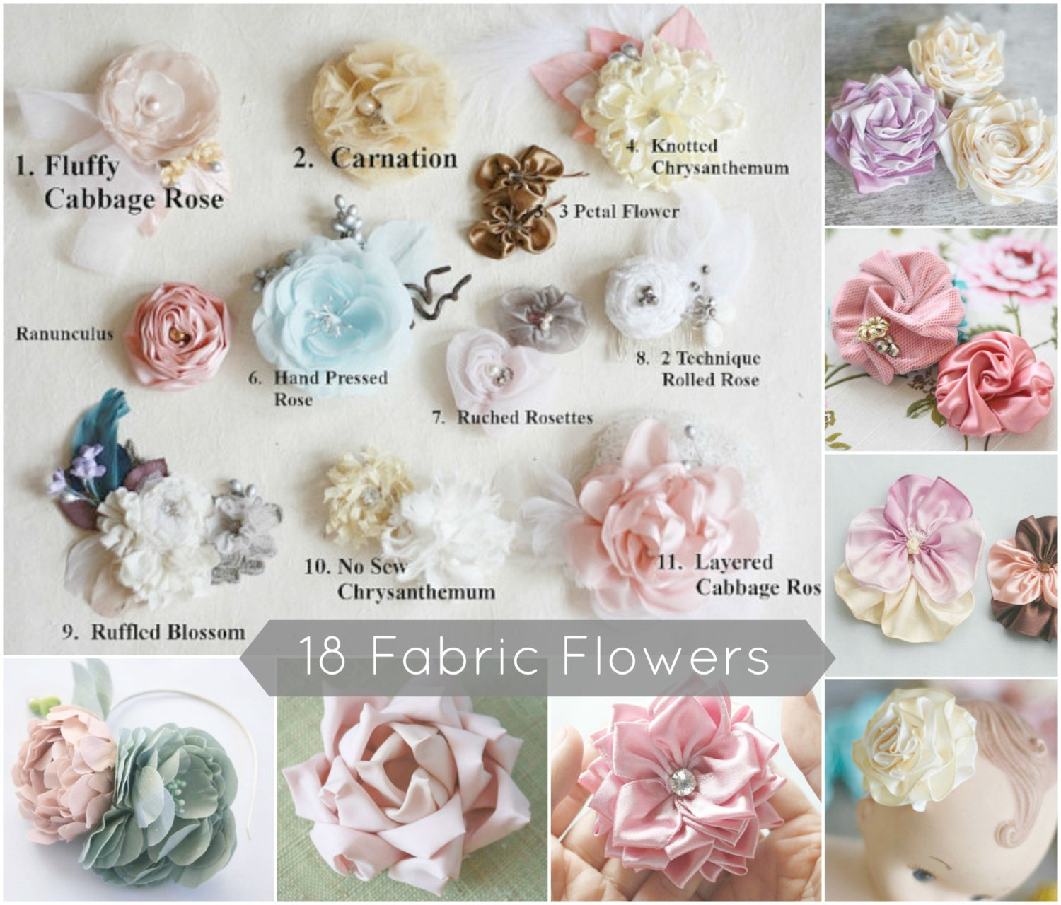 18 fabric flower tutorials fabric flower patterns flower zoom jeuxipadfo Choice Image