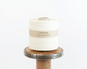 Finest Paper Yarn / White Papercord - Large Bobbin - Knit, DIY, Crochet, Fiber Arts, Giftwrap, Weave, Craft supply - Handwash - Ecofriendly