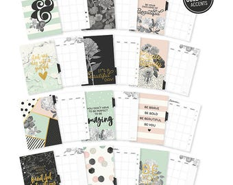 Planner Monthly inserts A5, Beautiful Collection, Carpe Diem, Monthly dividers a5, Planner inserts a5,  Planner refill a5, a5 inserts,