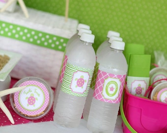 Preppy Turtle Collection: Printable Water Bottle Wraps