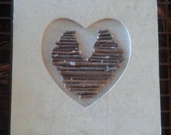 Heart made of sticks