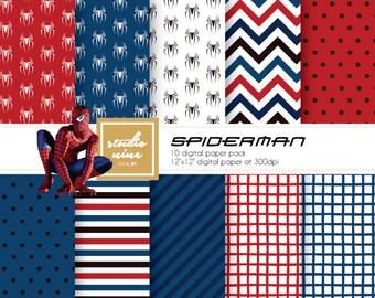 Spiderman Digital Paper