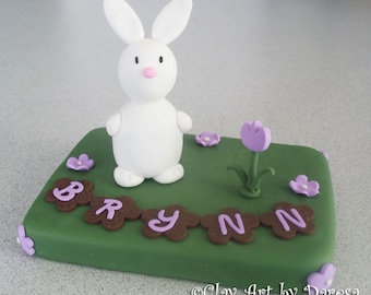 Beautiful Bunny Cake Topper