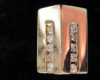 DIAMOND PENDANT // Diamond & Gold Pendant // Vintage Diamond Pendant // Vintage Diamond and Gold Pendant // Vintage Gold Pendant