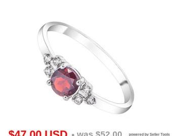 Garnet Ring Garnet Engagement Ring Garnet Promise Ring for Her Cluster Ring January Birthstone Ring Thin Ring Small Ring Dainty Wedding Ring