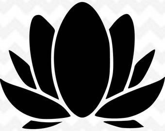 Lotus   Lotus Flower svg   Flower svg   Lotus png   Lotus Clipart   Silhouette Cricut   Lotus svg cut file   Vector