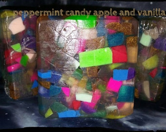 Peppermint candy apple and vanilla scented soap