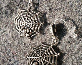 Spider on Web Earrings
