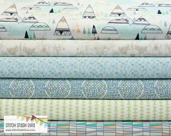 Art Gallery Indian Summer Aqua Bundle (6 Fabrics Total)