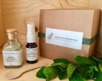 Natural Skin Care Gift Set- Herbal