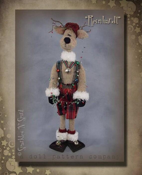 "Doll Kit: ""Reinhardt"" - 26"" Reindeer -  for doll pattern by Sparkles n Spirit"