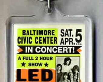 Led Zeppelin Poster Keyring