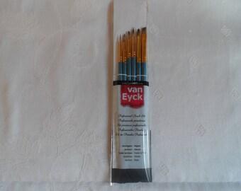 6 mixte pinceaux professionnel pour peinture à l'huile et acrylique