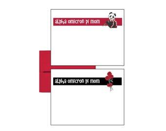 Alpha Omicron Pi Postcards - Logo Mom