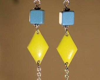 """""""Geometry"""" fancy, modern, contemporary earrings"""