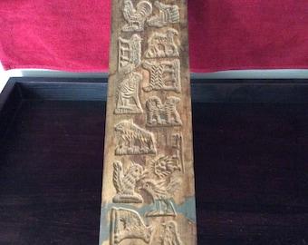 Antique handmade Springerle wood mold
