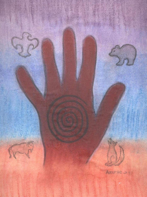 The healing hand sacred spirit symbol portrait by shamanic zoom buycottarizona Image collections