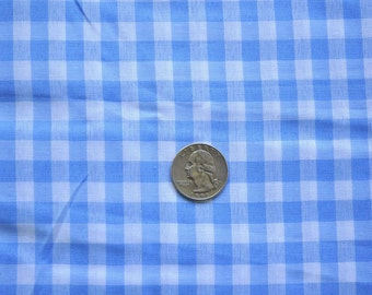 CLEARANCE - Gingham in blue - sold by the yard