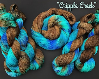 Cripple Creek- Sock weight, Hand dyed yarn, Superwash Merino, 463 yards