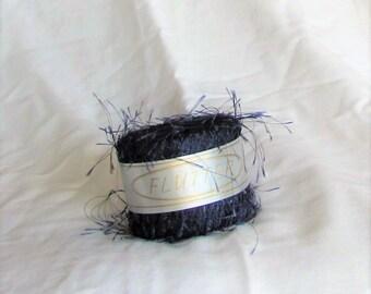 Flutter 43, Navy, Knitting Fever, navy blue, eyelash, destash