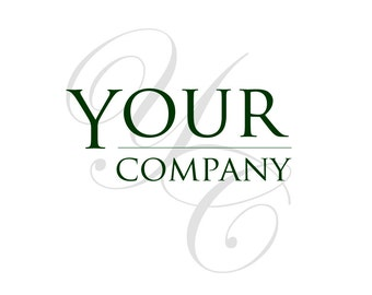 Pre-Made LOGO DESIGN - Customized with Your Name - Your Company Logo