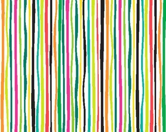 Multi-color Wavy Stripe, Rio by Jane Dixon for Andover