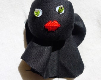 Chiffonnette - unique handmade fabric brooch. each character is different !